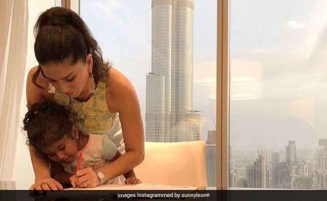When Sunny Leone Helped Finish Her Daughter Nisha?s Homework On Vacation