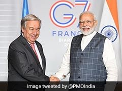 PM Modi, In France To Attend G7 Summit, Meets UN Chief