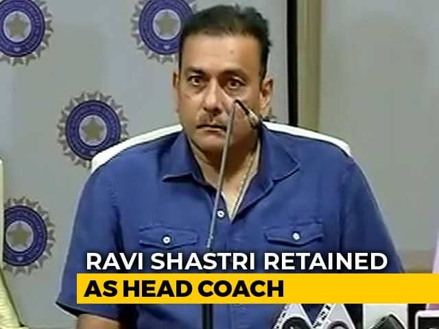 Ravi Shastri Retained As Team India Head Coach