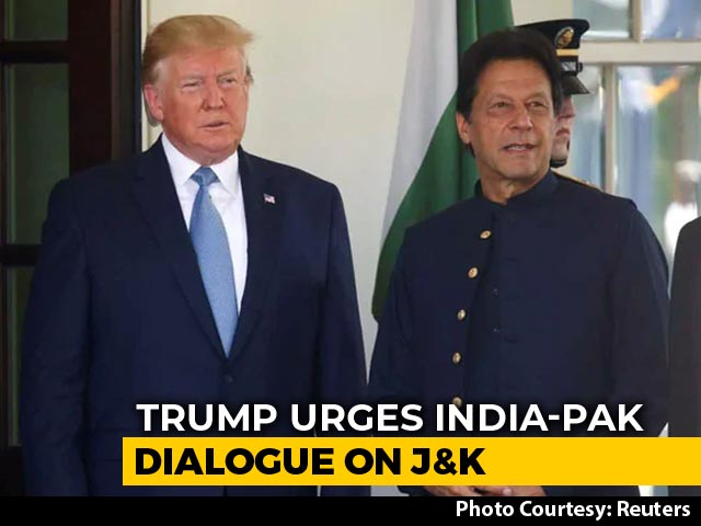 Video : Donald Trump Urges India-Pak Dialogue On Kashmir In Call With Imran Khan