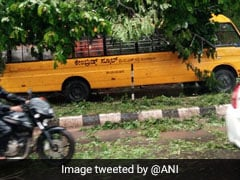 Tree Falls On School Bus In Flood-Affected Karnataka, 17 Students Injured