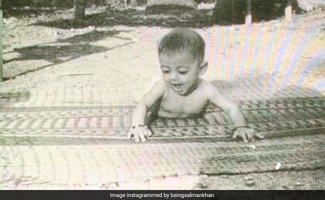 Salman Khan's Throwback Pic Proves He Was A Dabangg Baby