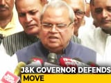 "Video : ""If There's No Phone For 10 Days, So Be It"": J&K Governor Defends Move"