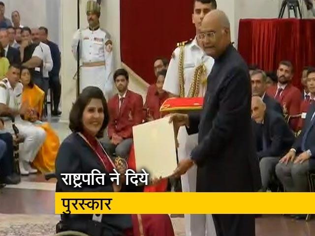 Video : 19 खिलाड़ियों को 'अर्जुन पुरस्कार', दीपा मलिक और बजरंग पुनिया को 'खेल रत्न'