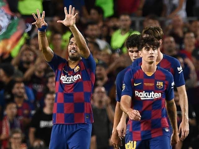 99,000 Fans See Luis Suarez Sink Arsenal In Antoine Griezmanns Camp Nou Debut