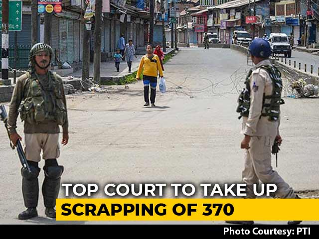Video : 5-Judge Bench Of Supreme Court To Review Centre's Move On Article 370