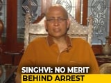 Video : There Was An Attempt To Declare Him Absconder: Abhishek Singhvi