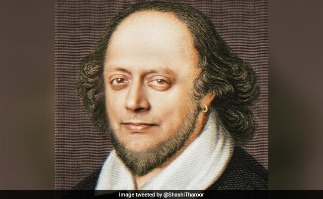 'Unworthy Of Honour': Shashi Tharoor Tweets His Morphed Shakespeare Pic