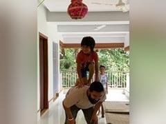 Janmashtami 2019: Aamir Khan Helping Pint-Sized Son Azad Break <I>Dahi Handi</I> Is The Cutest Thing Ever