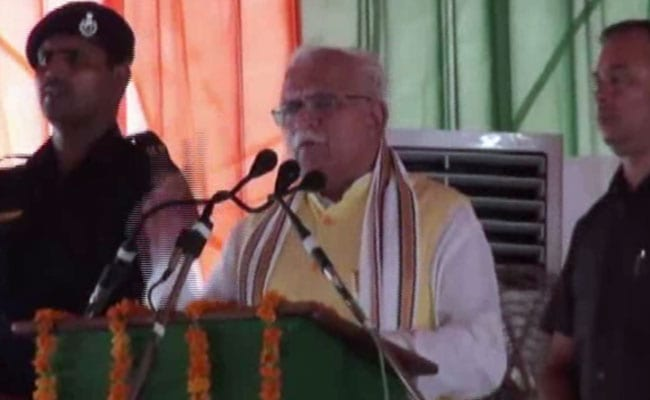 ML Khattar Rains Schemes On Voters Ahead Of Haryana Polls