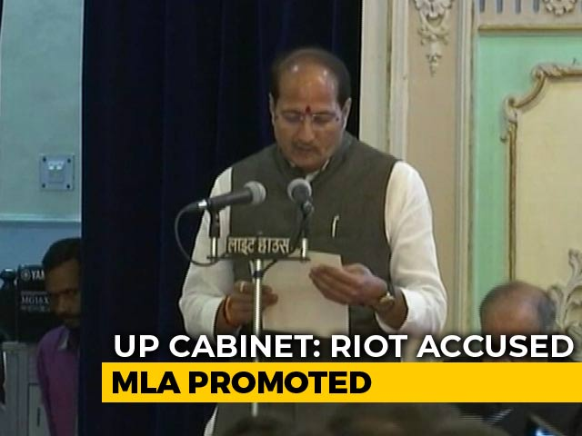 Video : In Yogi Adityanath's Cabinet Expansion, A Promotion For Riot-Accused MLA