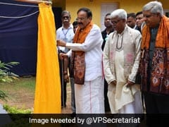 Vice President Inaugurates Renovated 'Shyamali' Building Of Vishva Bharati University