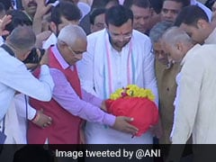 Arun Jaitley's Ashes Immersed In River Ganga At Haridwar