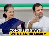 Video : Sonia Gandhi Back As Congress Chief For Now After 12-Hour Meet