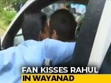 Video : Rahul Gandhi Ambushed With Kiss In His Kerala Constituency