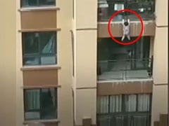 Caught On Camera: Toddler Survives Six-Storey Fall