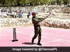 MS Dhoni Plays Cricket With Kids In Leh. See Picture