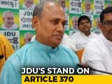 "Video : Article 370 ""Behind Us"": Nitish Kumar's Party Signals Shift In Stance"