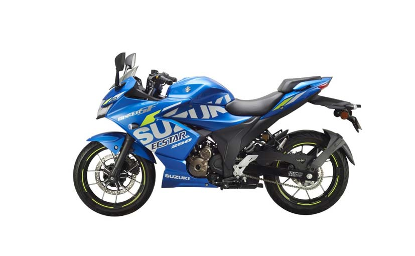 The Suzuki Gixxer SF 250 MotoGP Edition uses the same 249 cc oil-cooled motor as the standard model