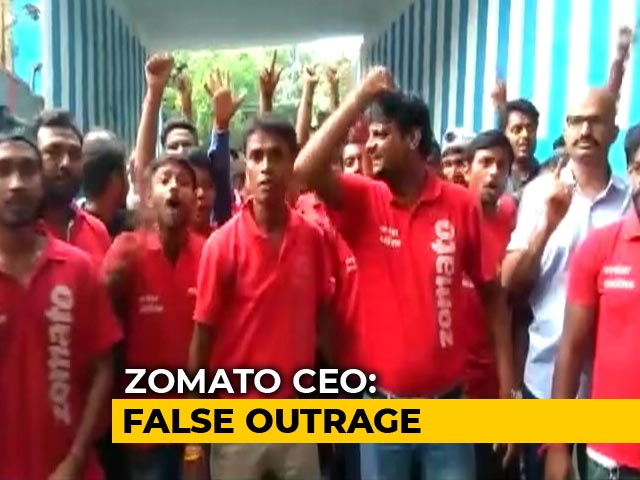 "Video : Zomato Riders' Strike ""Nothing To Do With Food Or Religion"": Founder"