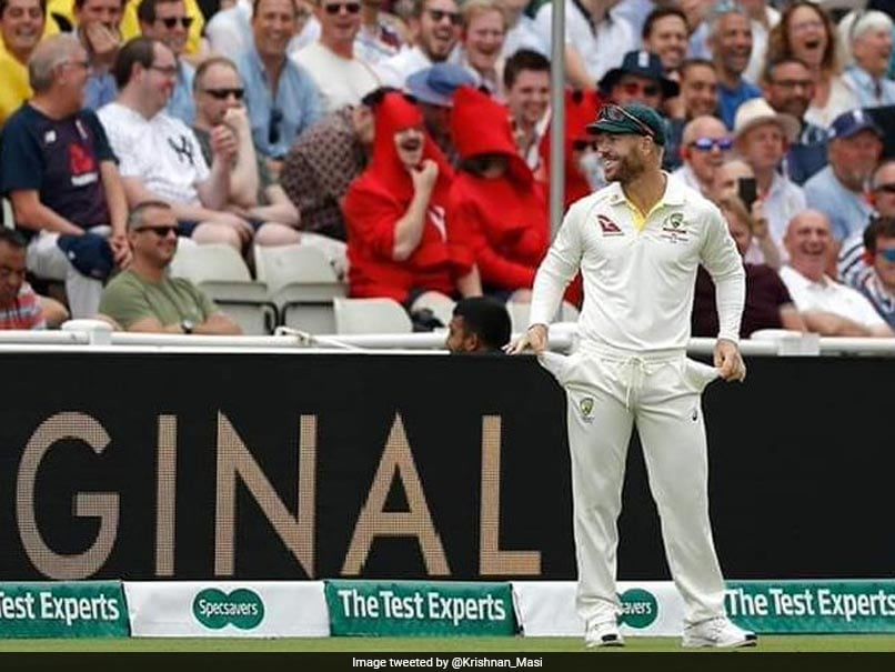 "Watch: David Warners Brilliant Response To ""Sandpaper"" Chants From Edgbaston Crowd"