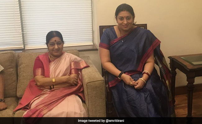 'Axe To Grind With You Didi': Smriti Irani's Moving Post On Sushma Swaraj
