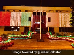 Indian High Commission In Pak Lit-Up In Tricolour For Independence Day