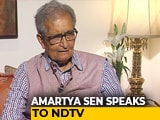 "Video : J&K Detentions ""A Classic Colonial Excuse"": Amartya Sen"