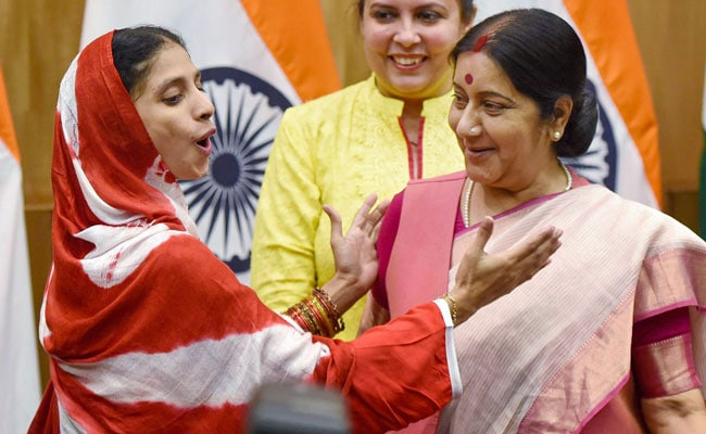 Geeta, Who Sushma Swaraj Brought Back From Pak, Pays Special Tribute