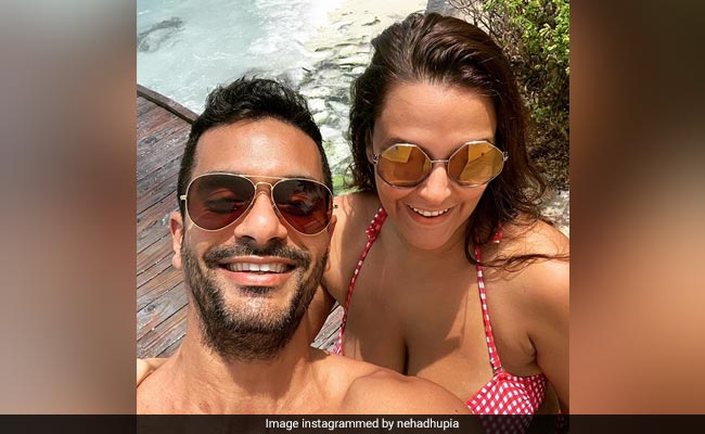 Neha Dhupia And Angad Bedi Are Painting Instagram Red With Mushy Maldives Pics