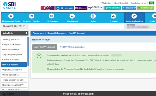 PPF account online, SBI net banking, PPF account via SBI net banking, Public Provident Fund, PPF scheme, PPF interest rate, PPF tax, PPF status