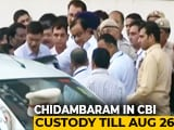 Video : P Chidambaram Sent To CBI Custody Till Monday In INX Media Case