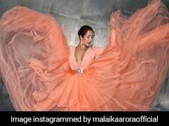 मलाइका अरोड़ा की अदाओं ने जीता सबका दिल, पीच गाउन में इस तरह दिखा खूबसूरत अंदाज