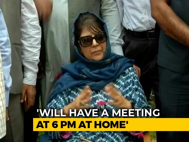 Video : As Tensions Rise In Jammu And Kashmir, Mehbooba Mufti Calls All-Party Meet