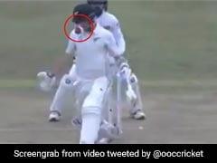 बल्ले से लगकर बॉल घुस गई हेलमेट में, कैच पकड़ने के लिए बल्लेबाज की तरफ भागे फील्डर, देखें VIDEO