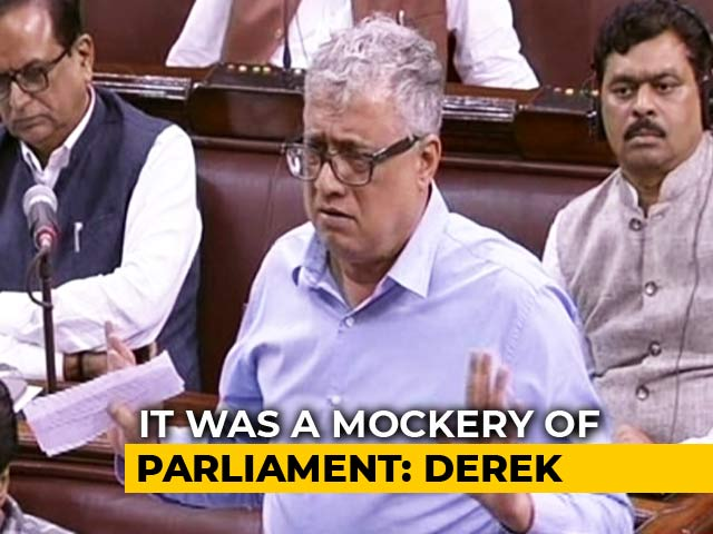 "Video : ""Constitution Thrown Into Dustbin,"" Says Derek O'Brien On Kashmir Move"