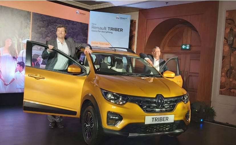 Venkatram Mamillapalle, Country CEO and Managing Director, with the Renault Triber
