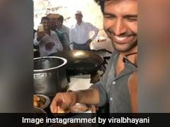 'Pati, Patni Aur Woh' Actor Kartik Aaryan Tries 'Oily' Kachori At This Iconic Shop In Lucknow! (Watch Video)