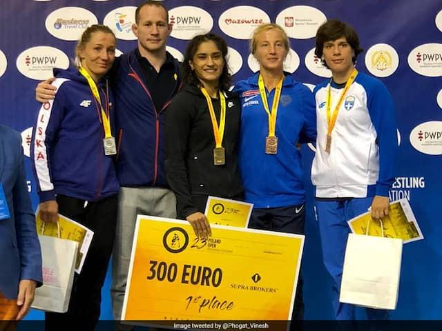 Vinesh Phogat Wins Third Successive Gold In 53kg In Poland Open