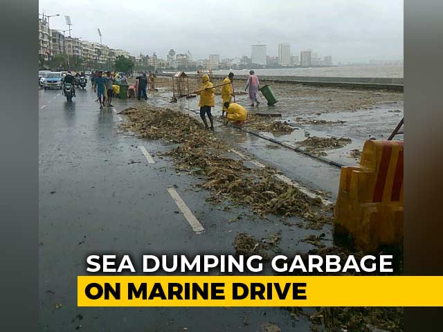 Video : High Tide Heaps Trash Along Mumbai's Marine Drive, 15 Tonnes Cleared