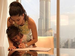 When Sunny Leone Helped Finish Her Daughter Nisha's Homework On Vacation