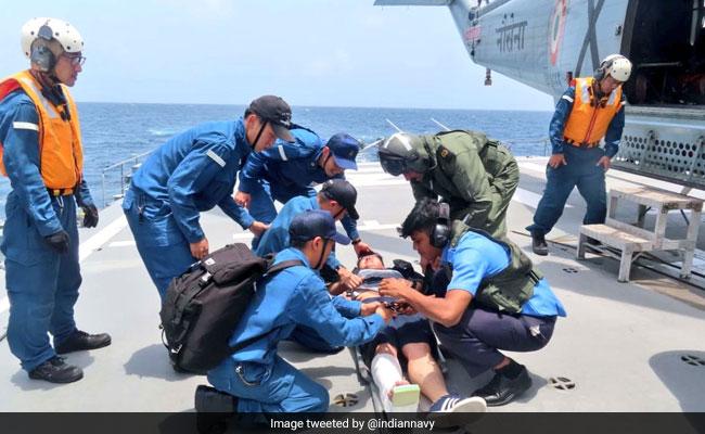 Navy Helps Injured Crew On Japanese Warship, Evacuates Him To Mumbai