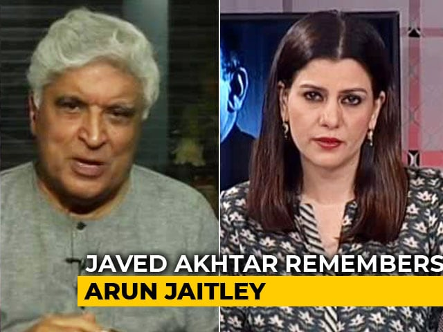 "Video : ""Had Many Things In Common"": Javed Akhtar's Praise For Arun Jaitley"