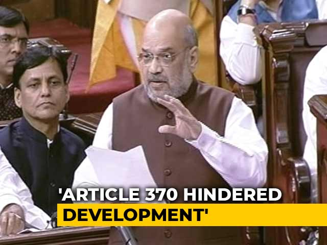 "Video : ""At Right Time"": Amit Shah Hints At Possible Rollback On J&K Statehood"