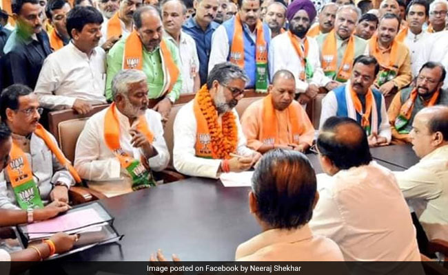 Neeraj Shekhar Files Rajya Sabha Bypoll Nomination As BJP Candidate