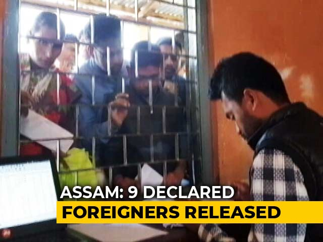 "Video : Assam Frees Nine ""Declared Foreigners"" Ahead Of Citizens List Publication"