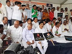 Congress Protests In Bengaluru Against Karnataka BJP On Flood Relief