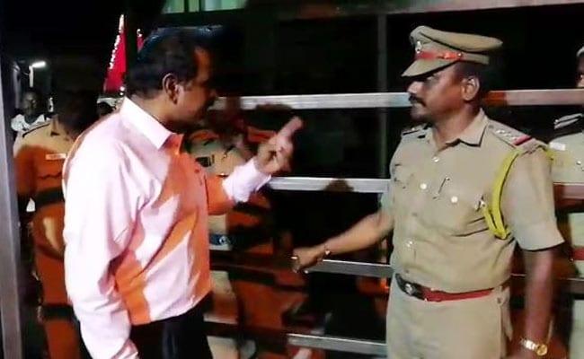 पुलिस अधिकारी पर भड़के जिला कलेक्टर, कहा- 'तुम्हें मैं छोड़ूंगा नहीं...तुम तो गए', VIDEO वायरल