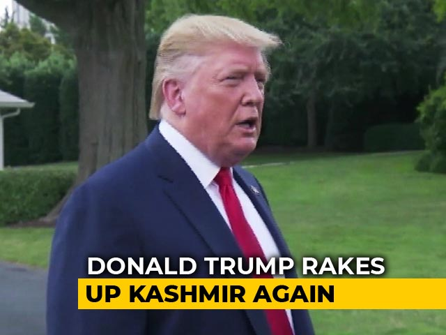 "Video : ""If They Want Me To Intervene..."": Donald Trump Rakes Up Kashmir Again"