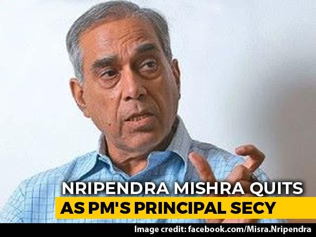 Video : Nripendra Misra Quits As Principal Secretary To PM Modi